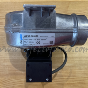ventilatore multifuoco G2E120-SA58-06 Effetto fuoco - Ricambi per stufe a pellet e legna Piazzetta e Superior