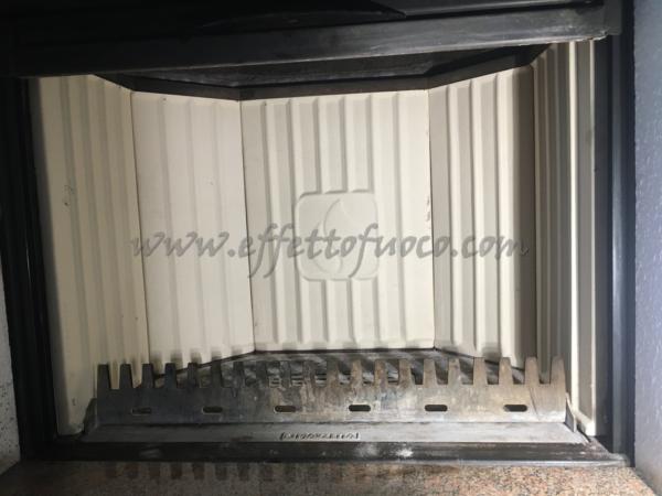 Schienale aluker HT600 - sfufa a legna- Effetto fuoco - Ricambi per stufe a pellet e legna Piazzetta e Superior