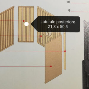 aluker - Laterale posteriore HT600 - sfufa a pellet - Effetto fuoco - Ricambi per stufe a pellet e legna Piazzetta e Superior