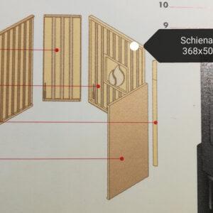aluker - Schienale HT600 - sfufa a pellet - Effetto fuoco - Ricambi per stufe a pellet e legna Piazzetta e Superior