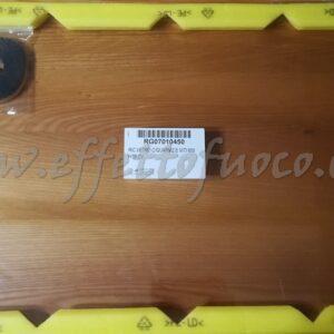 Vetro con guarnizione e viti HT600- sfufa a legna- Effetto fuoco - Ricambi per stufe a pellet e legna Piazzetta e Superior