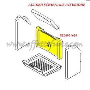 aluker - Schienale inferiore E925 - Effetto fuoco - Ricambi per stufe a pellet e legna Piazzetta e Superior