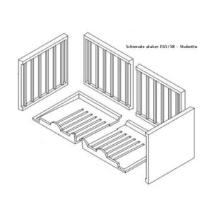 Kit Aluker E65/58 Stubotto Ricambi per stufe a pellet e legna Piazzetta e Superior